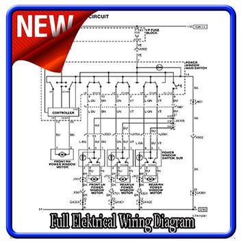 Full Elektrical Wiring Diagram poster