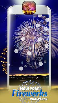 New Year Fireworks Wallpaper poster