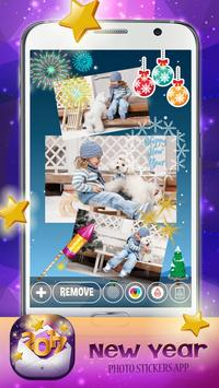 New Year Photo Stickers App 🎄 poster