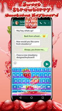 Sweet Strawberry Emoticon Keyboard poster