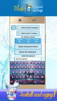 Water Glass Keyboard and Emoji apk screenshot