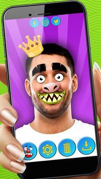 Funny Face Sticker Photo Editor apk screenshot