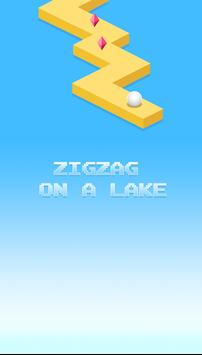 Zigzag on a Lake poster