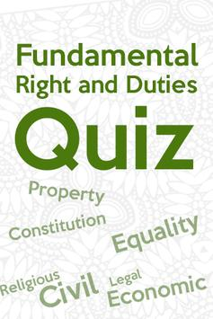 Fundamental Rights and Duties Quiz poster