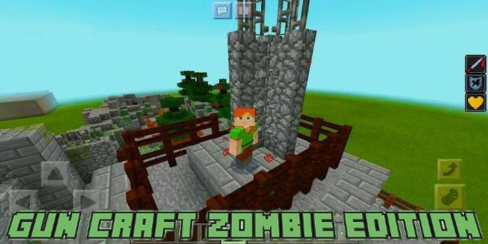 Gun Craft Zombie Edition Map for MCPE poster