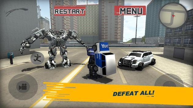 Futuristic Police Robot City 3D screenshot 2