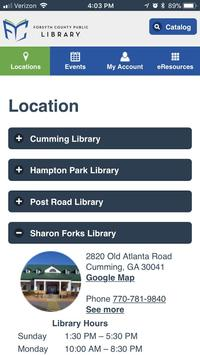 Forsyth County Public Library apk screenshot