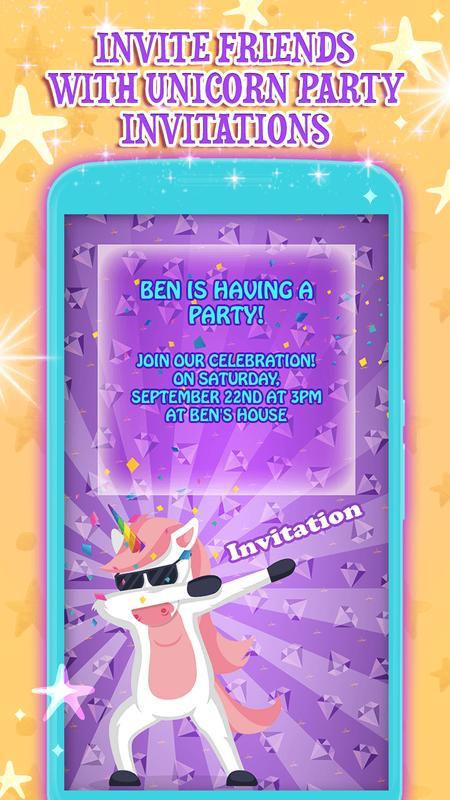 Unicorn Birthday Invitation Cards Screenshot 13