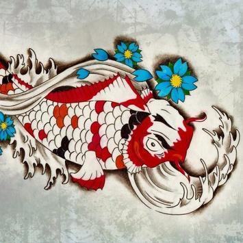 FISH TATTOO Wallpaper poster