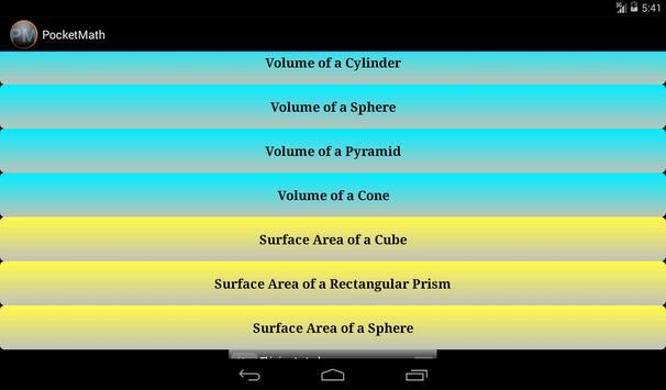 PocketMath 2 apk screenshot