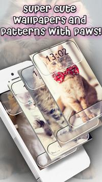 Cute Cats Lock Screen Pattern App screenshot 9