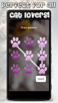 Cute Cats Lock Screen Pattern App apk screenshot