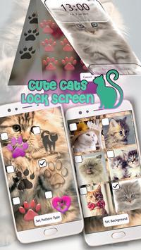Cute Cats Lock Screen Pattern App screenshot 14