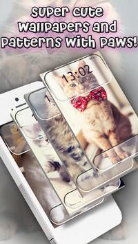 Cute Cats Lock Screen Pattern App screenshot 3