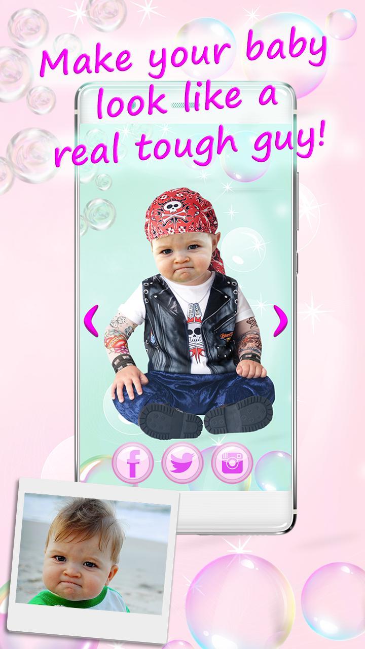 Aplikasi kostum bayi