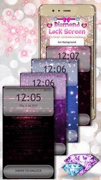 Diamond Glitter Lock Screen Pattern apk screenshot