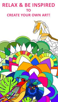 Coloring Book For Adults Poster Apk Screenshot
