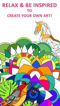 Coloring Book For Adults Poster Apk Screenshot