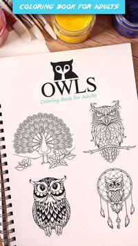 Owls Coloring Book For Adults Apk Screenshot
