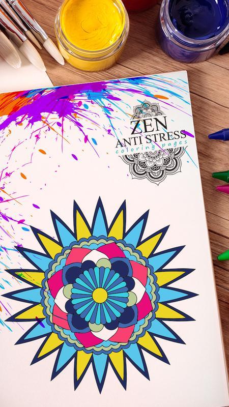 Zen Anti Stress Coloring Pages Apk Screenshot