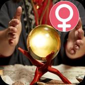 Women  Crystal ball fortune teller - Tarot cards icon