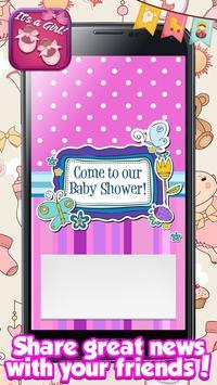 Baby Shower Cards for Girls: Greeting & Invitation screenshot 1