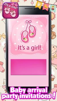 Baby Shower Cards for Girls: Greeting & Invitation screenshot 2