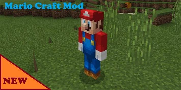 Mario Craft Mod for MCPE poster