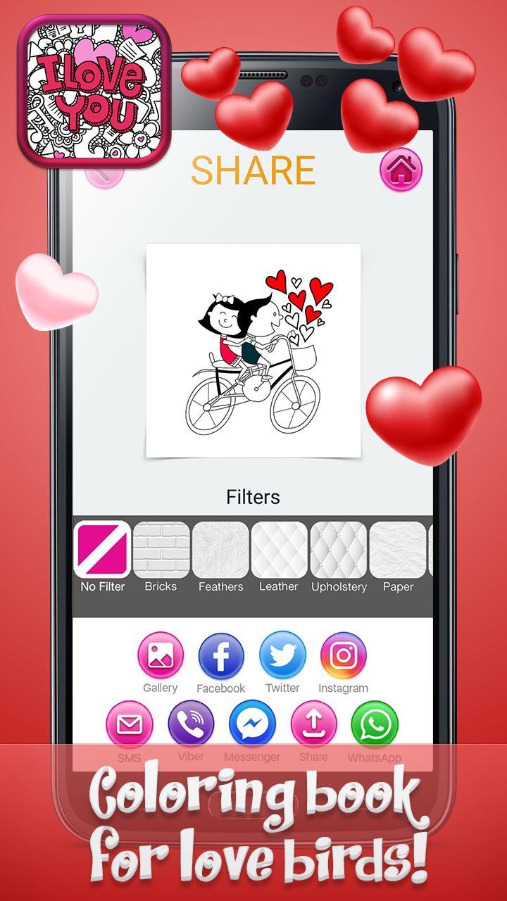 Cinta Mewarnai Buku Dengan Gambar Romantis For Android APK