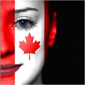 Canada Flag-Face Masquerade icon