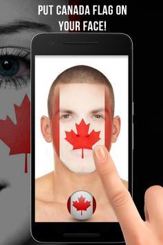 Canada Flag-Face Masquerade poster