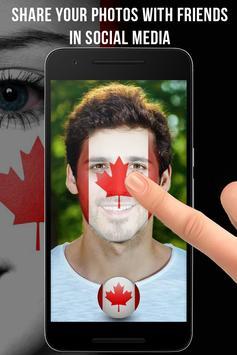 Canada Flag-Face Masquerade screenshot 2