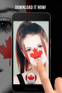 Canada Flag-Face Masquerade screenshot 3