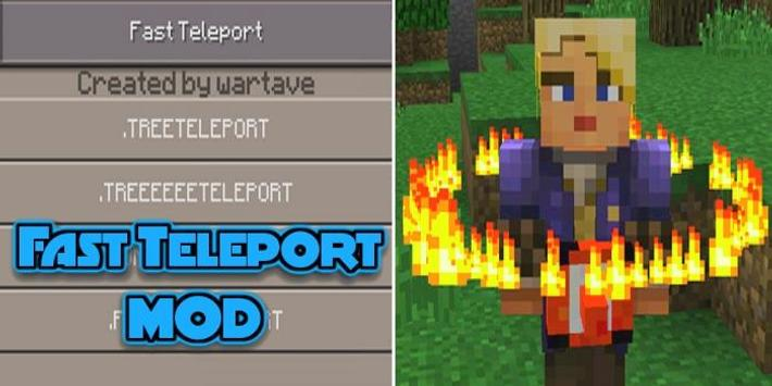 Mod Fast Teleport for MCPE poster