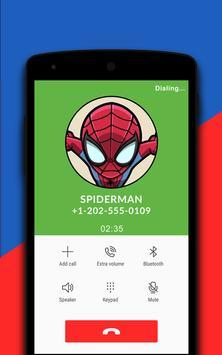 Spiderman Fake Calling Simulator screenshot 1