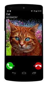fake call cat game poster