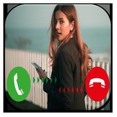 Fake Call Girlfriend : Prank call Numbers icon