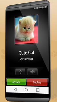 Fake Call From Cat screenshot 1