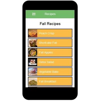 Fall Recipes screenshot 1