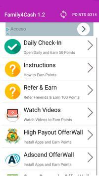 Family4Cash - Free Gift Cards apk screenshot