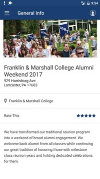 Franklin & Marshall Events screenshot 1