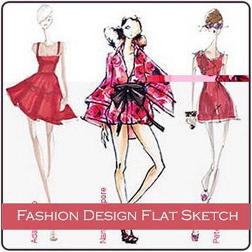 Fashion Design Flat Sketch poster