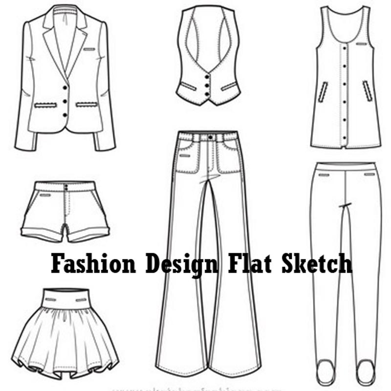 Line Art Apk : Fashion design flat sketch apk download free lifestyle