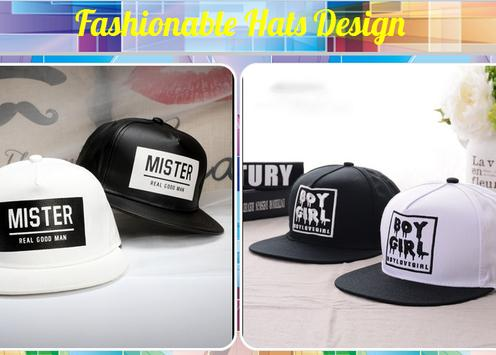 Fashionable Hats Design poster