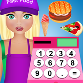 fast food cashier game icon