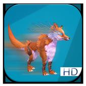 Run like a fox in jungle icon