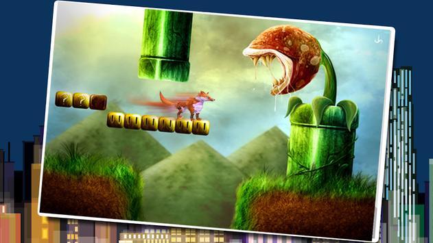 Run like a fox in jungle poster