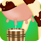 farm cow milk game icon