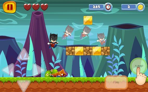 Super Bat World Sandy man Game apk screenshot
