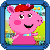 Super Pig World frEE Peppa Sandy Game icon